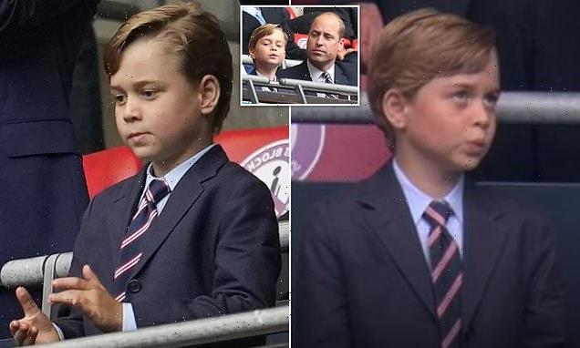 Prince George steals the show during national anthem at Wembley