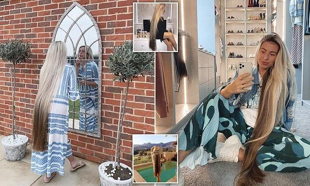 Real life Rapunzel, 27,who hasn't cut 4-foot long hair for 10 YEARS