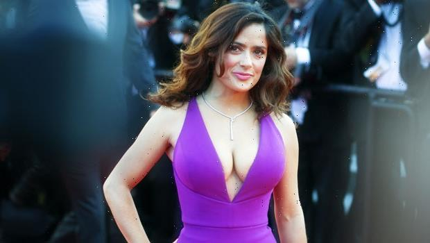 Salma Hayek Denies Having A Breast Enlargement & Explains Why Her Boobs Have Grown Naturally