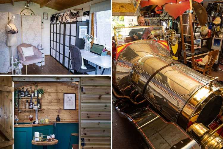 Secret cocktail bar, bra-fitting boutique and Chitty Chitty Bang Bang workshop battle it out for Shed of the Year