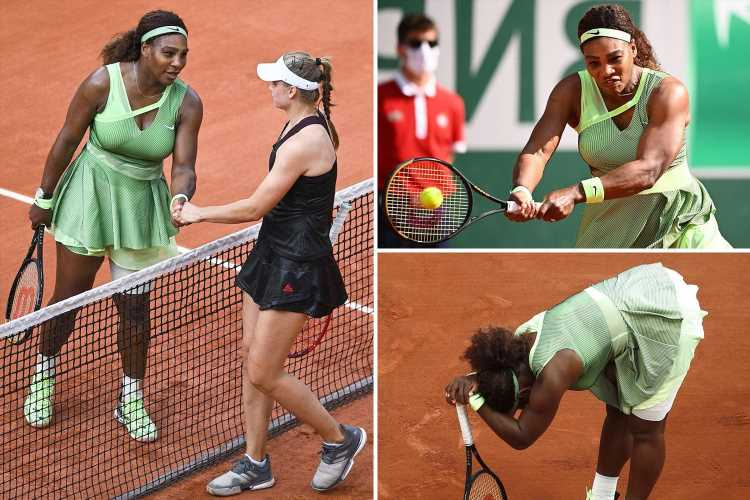 Serena Williams crashes OUT of 2021 French Open after shock straight sets defeat at the hands of Elena Rybakina