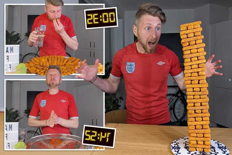 Speed eater munches his way through 100 fish fingers in under 15 minutes
