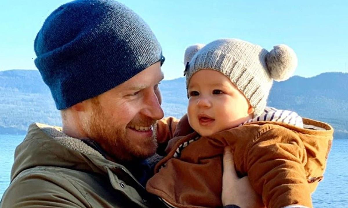 Sweet new image of Prince Harry and Archie holding hands revealed ahead of Meghan Markle's book launch