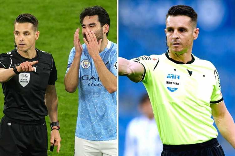 Who is referee Carlos del Cerro Grande and what games is he taking charge of at Euro 2020?