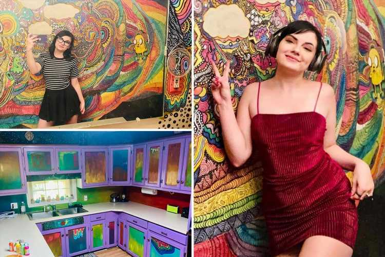 Woman gives 'boring' kitchen a multicoloured makeover but people think she'll never be able to sell her home