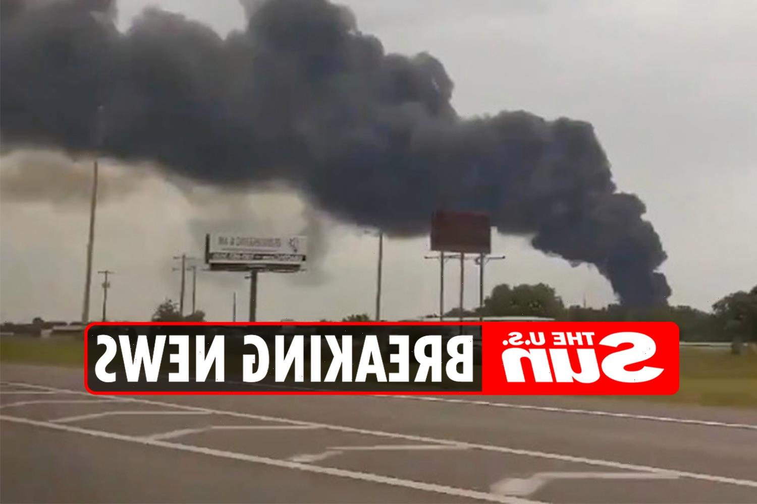 Ardmore plant explosion: 'One dead' after huge fire and blast at asphalt business in Oklahoma