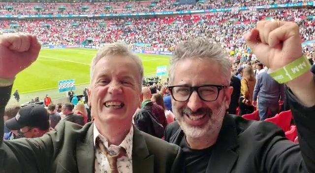 Baddiel and Skinner 'BANNED by Uefa from singing Three Lions before Euro 2020 Wembley final as it'd be unfair on Italy'