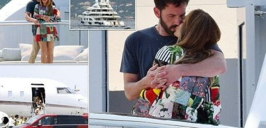Ben's birthday surprise for JLO! Loved-up couple visit French Riviera