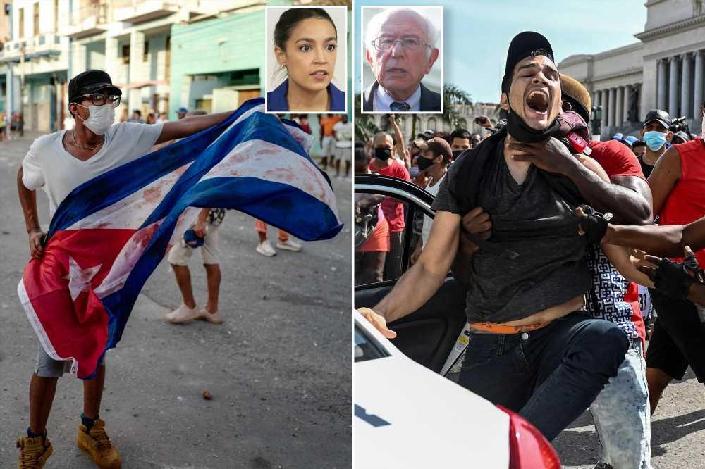 Bernie Sanders blames US sanctions for Cuban protests while AOC silent