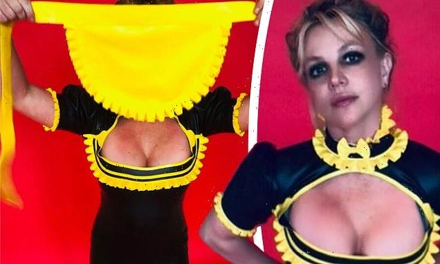 Britney Spears puts on a busty display in her 'hottest' maid uniform