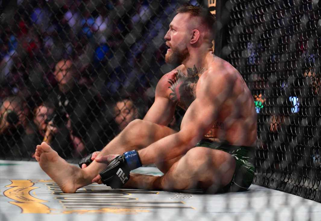 Conor McGregor handed six-month UFC suspension after suffering horror broken leg in defeat to Dustin Poirier