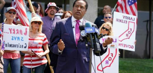Conservative talk show host Larry Elder leads in crowded California guv recall race