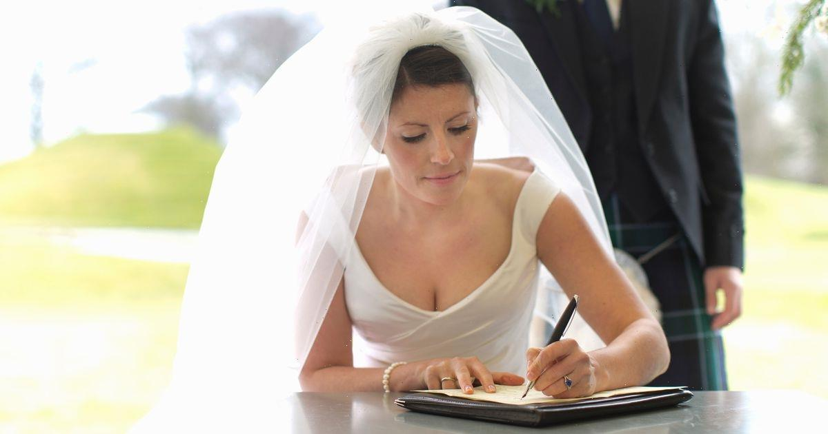 Couple send wedding guests list of rules – and ban them from talking to bride