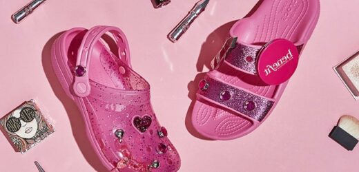 Crocs and Benefit Cosmetics Released Glittery Jelly Sandals That Are So 2000s!