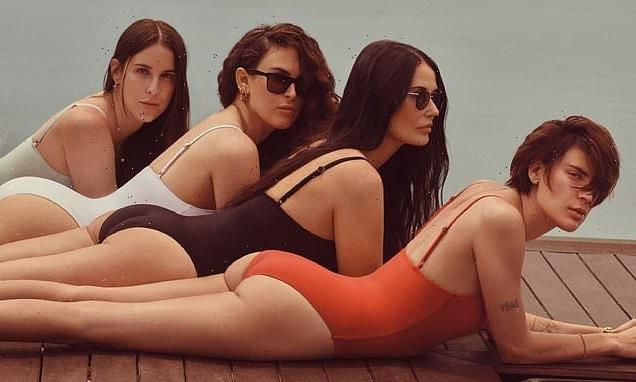 Demi Moore, 58, joins her daughters for sizzling campaign