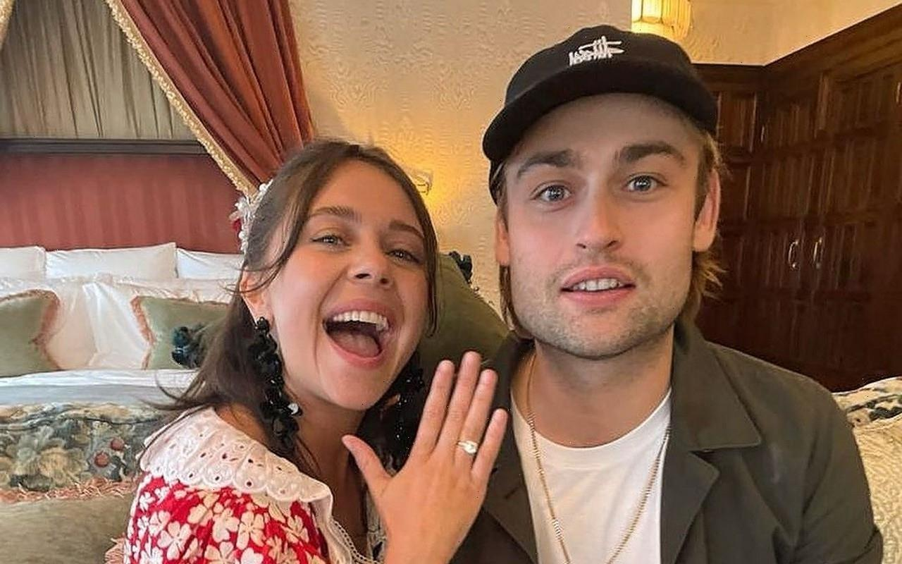 Douglas Booth and Bell Powley Show Off Engagement Ring After Romantic Proposal
