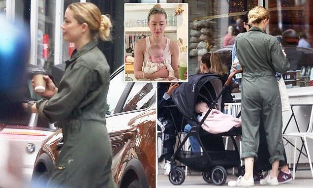 EXCLUSIVE: Amber Heard seen out with baby girl Oonagh for first time