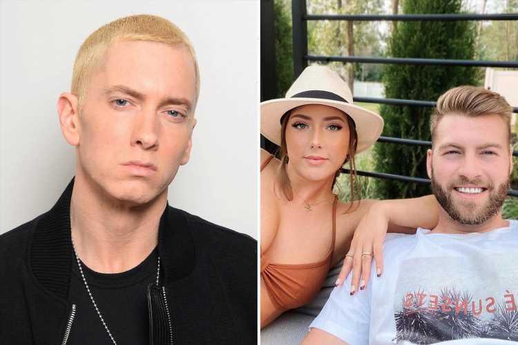 Eminem's daughter Hailie Jade Mathers shares rare photo of boyfriend Evan McClintock & dad's fans warn 'don't hurt her!'