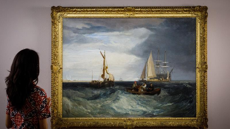 Famed British seascape by J.M.W. Turner up for auction