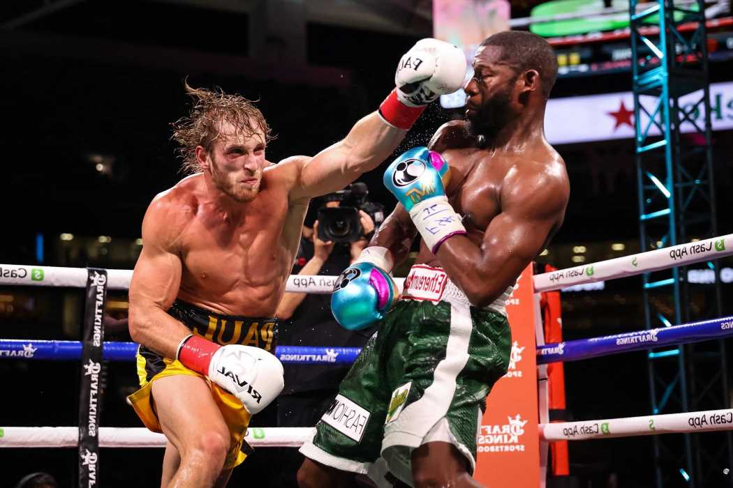 Floyd Mayweather was bleeding from BOTH ears and 'got hurt the most' in Logan Paul fight, claims YouTuber's trainer
