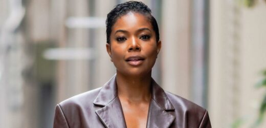 Gabrielle Union Went Topless Underneath a Leather Jacket