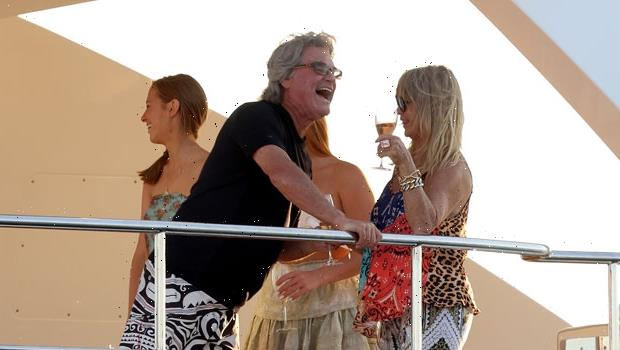 Goldie Hawn, 75, & Kurt Russell, 70, Lean In For A Sweet Kiss While Yachting In St. Tropez — See Pics