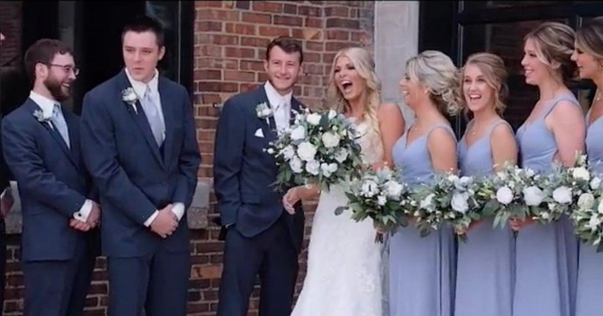 Groom left cringing in horror as wedding photographer calls bride by ex's name