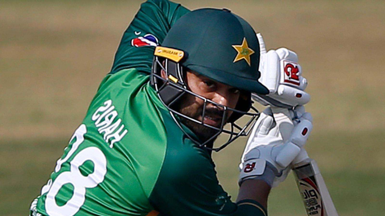 Haris Sohail: Pakistan batsman ruled out of ODI series against England with hamstring injury