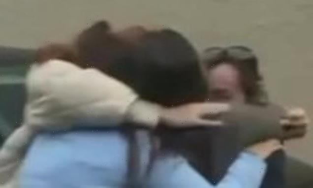 Heartwarming moments woman surprises family in Ireland