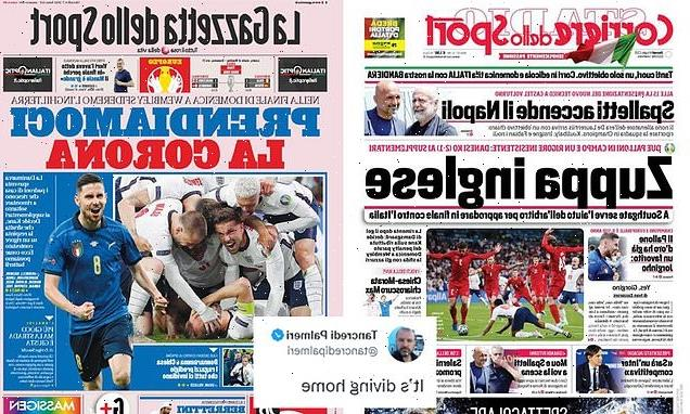 Italian newspapers say England 'needed the referee' to reach final