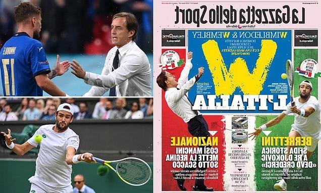 Italian papers relishing Super Sunday at Wimbledon and Wembley