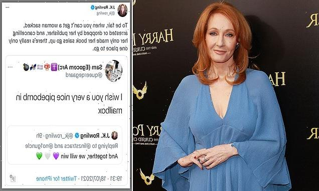 JK Rowling calls out troll who tweeted death threat at her