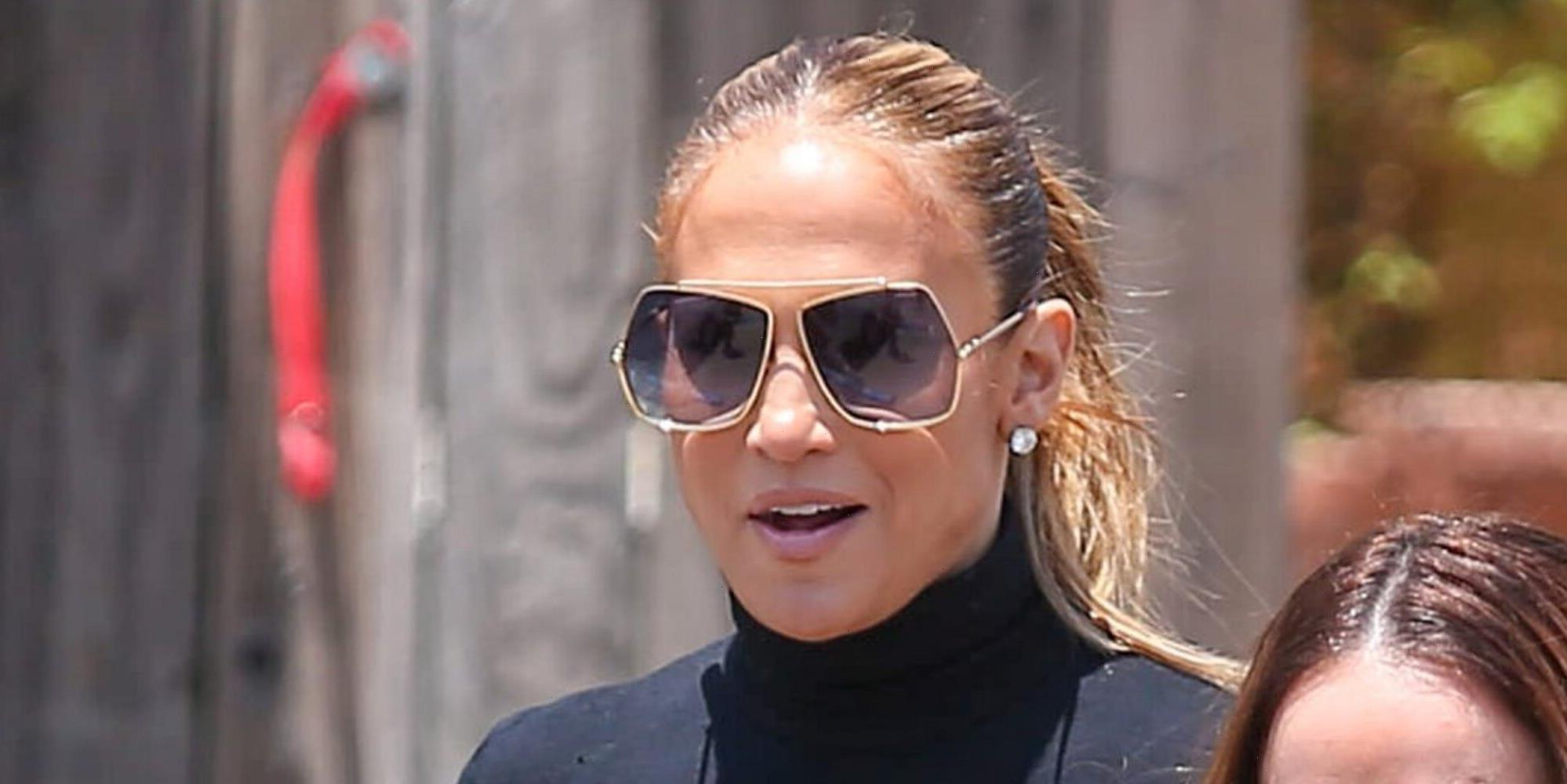 Jennifer Lopez Stepped Out in a Turtleneck During a Heat Wave