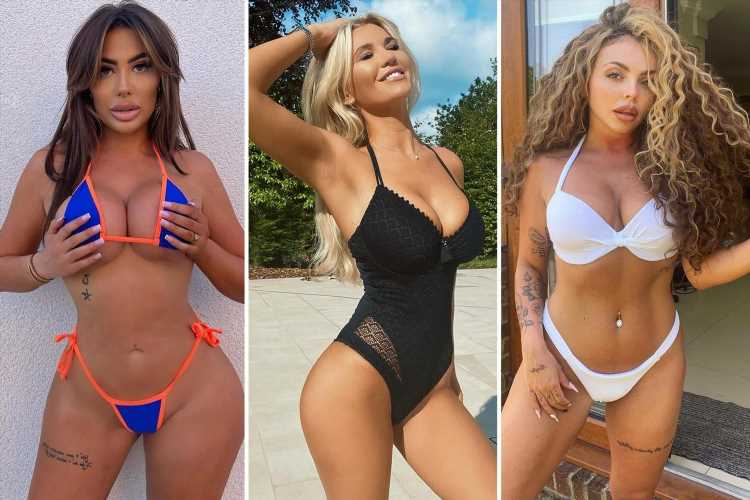 Jesy Nelson and Christine McGuinness leads celebs as they strip off to enjoy the sunshine