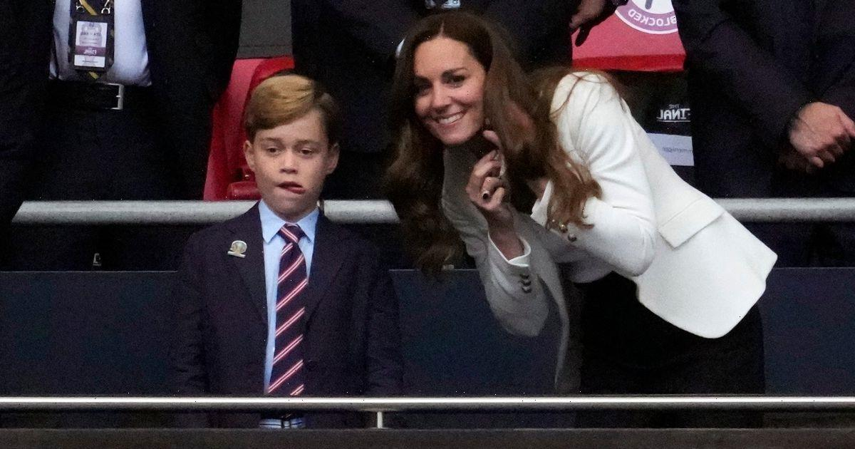 Kate Middleton seen comforting Prince George at Euro final in adorable new video