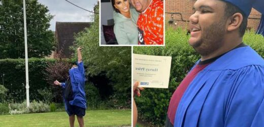 Katie Price calls son Harvey, 19, a 'massive credit to me' as he graduates from school and heads off to college