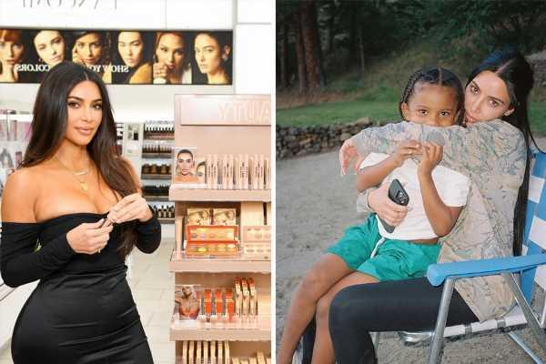 Kim Kardashian cuddles up to son Saint, 5, in sweet photo after shutting down KKW Beauty following Kanye West divorce