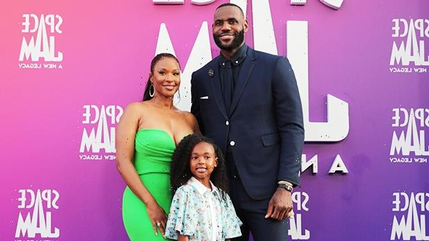 LeBron James Brings Wife & Adorable Daughter Zhuri, 6, To Space Jam 2 Premiere  Photos
