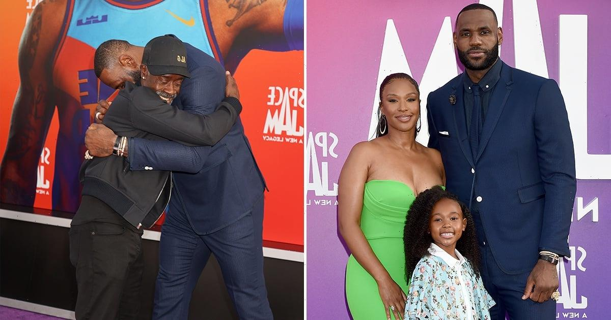 LeBron James Put Family (On and Off Screen) First at the Space Jam: A New Legacy Premiere