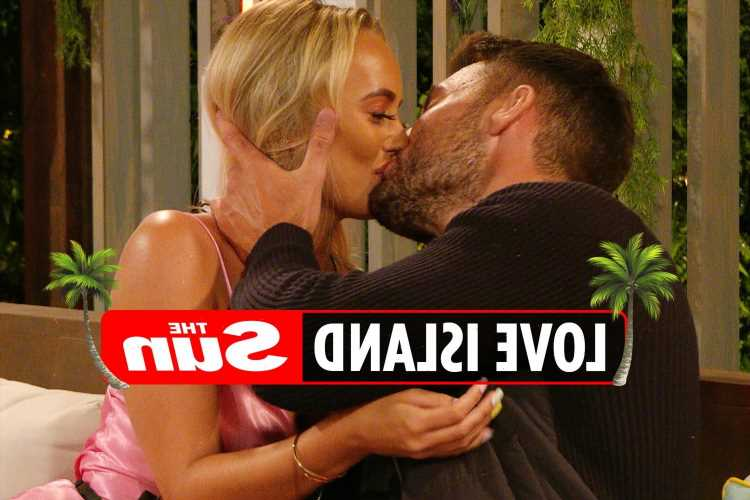 Love Island's Liam Reardon and Millie Court share passionate kiss as they admit 'sexual tension' is growing