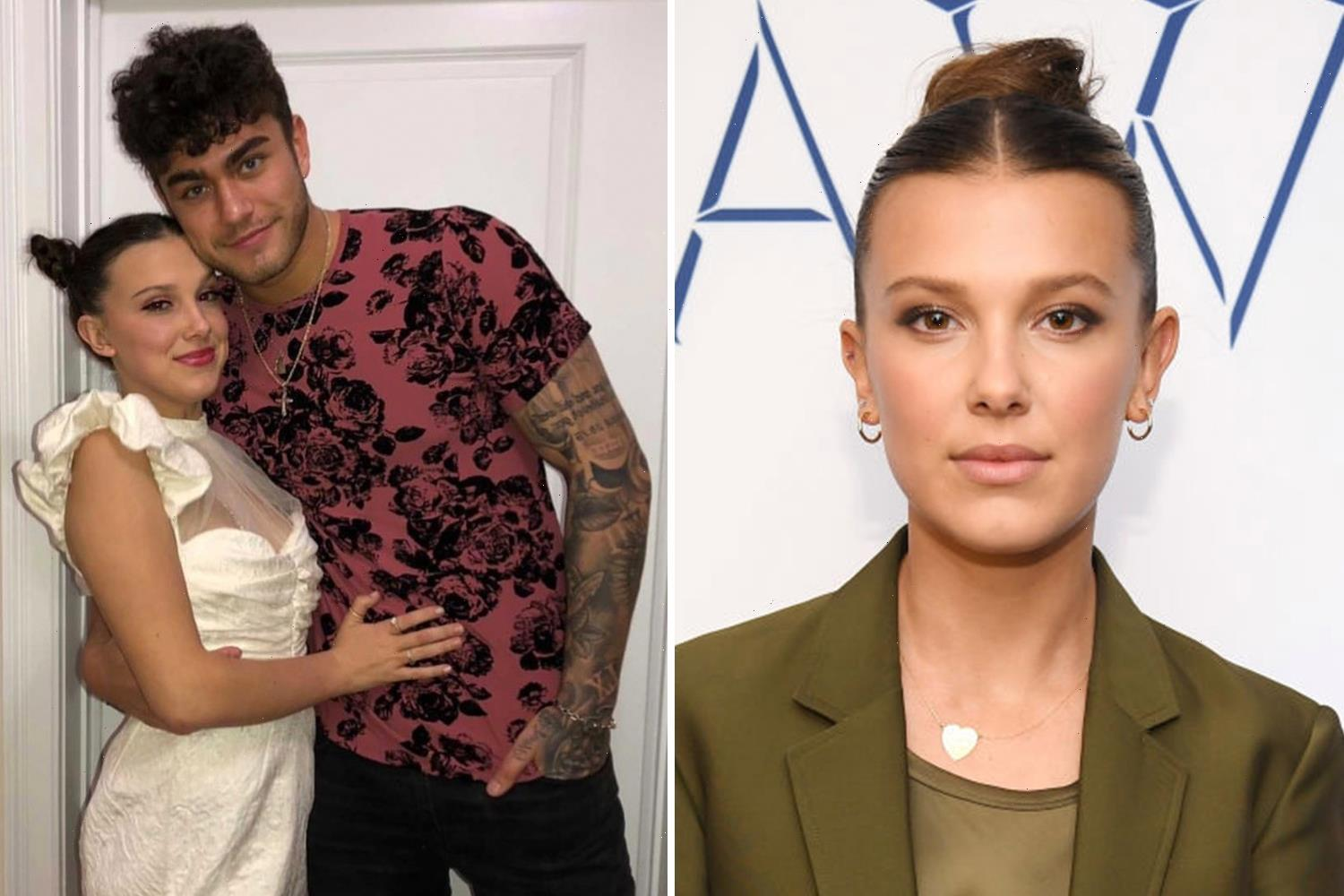 Millie Bobby Brown, 17, denies sexual relationship with TikTok star Hunter Ecimovic, 21, and calls his claims 'hateful'