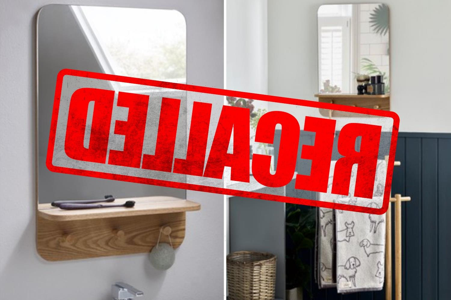 Next recalls wall mirror over fears it could fall and shatter into pieces