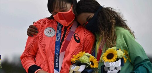 Olympic athletes told to stop hugging on podiums amid Covid fears in Tokyo but are allowed to remove masks