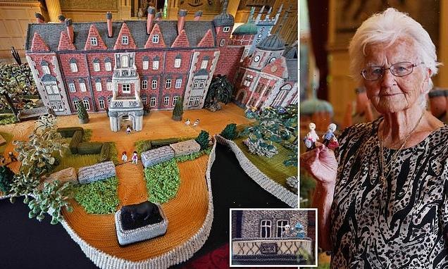 Pensioner creates 'knitted Sandringham' of Queen's Norfolk home