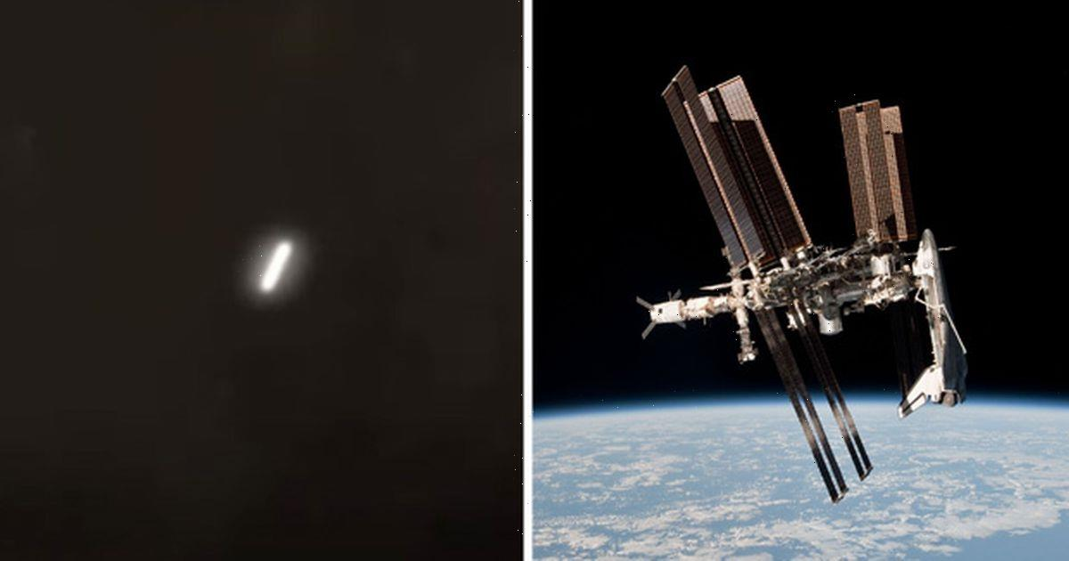 Perfectly-formed 'cigar-shaped UFO' seen hurtling past ISS at astonishing speed