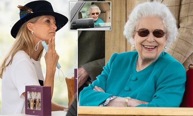 Queen looks delighted as she enjoys the Royal Windsor Horse Show