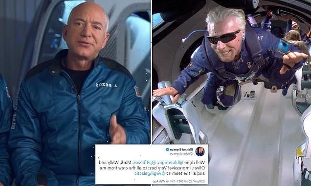 Richard Branson congratulates Bezos on Blue Origin's flight into space