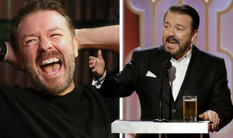 Ricky Gervais reacts as he's urged to host Emmys 2021 after landslide poll results