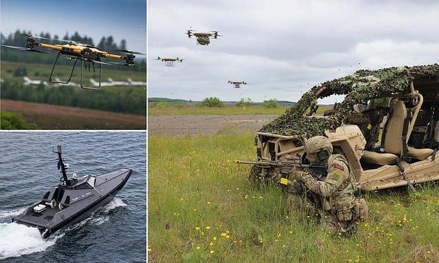 Royal Marines test new drone systems