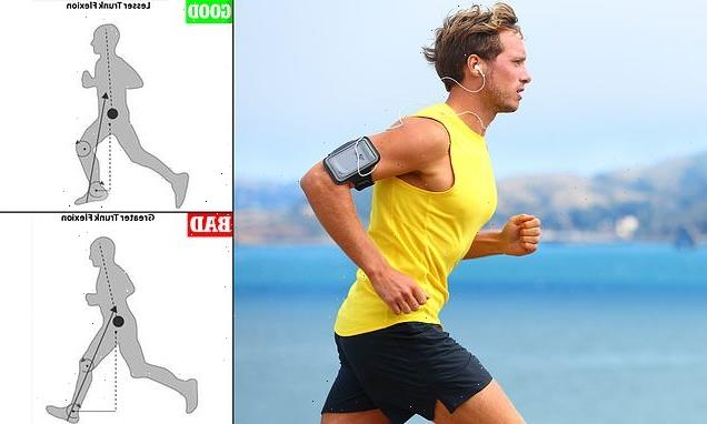 Running with your trunk tilting too far increases risk of injury
